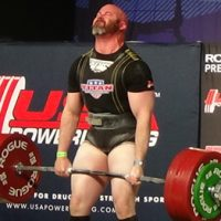Powerlifter Bryan Dermody at the 2012 Empire Classic