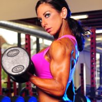 team myhmb and fit mom Danyelle Mastarone doing dumbbell curl