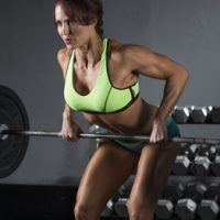 IFBB pro and bodybuilder Erin Stern doing barbell row