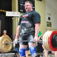 Hall of Fame Powerlifter Brad Gillingham deadlifting at the 2012 Missouri State Meet