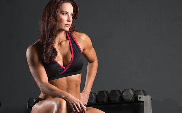 IFBB Pro & Bodybuilder Erin Stern at photo shoot