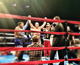 Pro Boxer Mike Kurzeja winning his fight