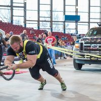 ASC Pro Strongman Spenser Remick pulling a truck competition