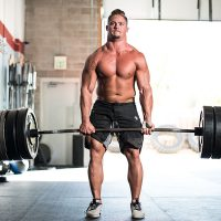 CrossFit Games athlete Sam Dancer deadlifts over 600 lbs at CrossFit gym in Colorado