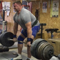 Hall of Fame Powerlifter Brad Gillingham deadlifting at Jackals Gym in Minnesota