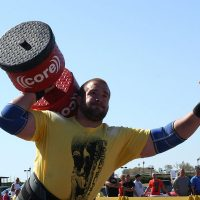 ASC Pro Strongman Spenser Remick lifting circus dumbbell