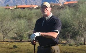 Retired P.E. Professional Tim Nassen out on the golf course