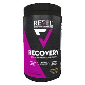 Muscle health supplement Revel Recovery featuring the clinically proven ingredient myHMB