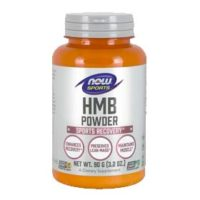 Muscle health supplement Now Sports HMB Powder featuring the clinically proven ingredient myHMB