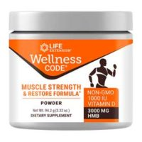 Muscle health supplement Life Essentials Wellness Code with the clinically proven ingredient myHMB