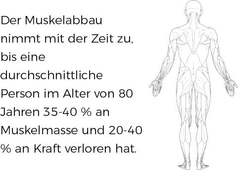 rate of muscle loss info in german